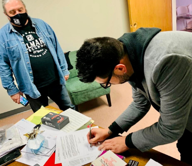 Signing with Delmark Records
